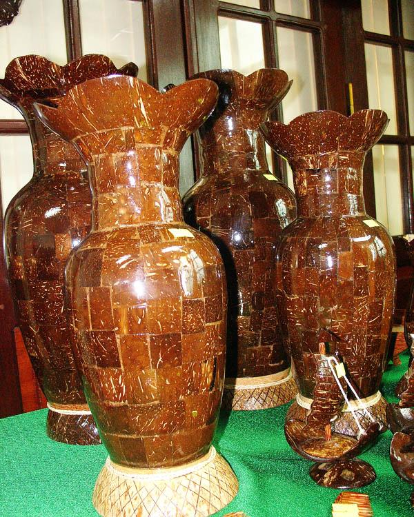 Lục bình làm bằng gáo dừa