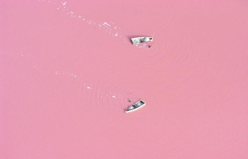 Hồ Retba ở Senegal