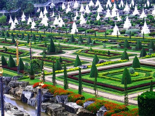 Những khu vườn đẹp nhất thế giới,vườn Suan Nong Nooch, Thái Lan