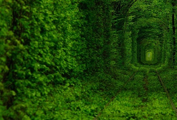 Đường hầm tình yêu ở Ukraine